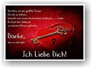 HERZ LIEBESSCHLOSS Geschenkidee Kunstdruck Bild Rot Wandbild Liebesbeweis Spruch