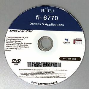 Setup DVD for Fujitsu fi-6770 - Driver Installation APP Software - Windows