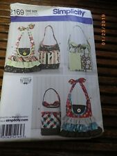 Fashion Accessories Purses Handbags Bags Tote Sewing Pattern/Simplicity 2169 UC
