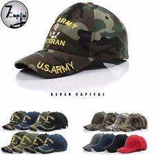 US Military Army Navy Marine Air Force Veteran Adjustable Polo Baseball Cap Hat