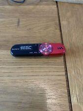 Retro Sony Walkman NWZ-B142F Red And Black  Digital MP3 Media Player Used