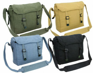 Repro WW2 Army Style Cotton Canvas Webbing Small Shoulder Pack Messenger Bag