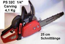 "Carvingsäge Dolmar PS-32C Carving Set 1/4"" 25cm 2cm Spitze Kettensäge Backhandle"