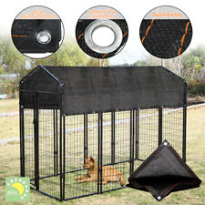 Outdoor Pet Cage Cover Wind Screen Dog Kennel 80% Sun Shade Crate Protector