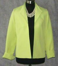Louben Jacket Sz 8 Suit Green Dress Casual Suit Women's Open Front Blazer SZ M