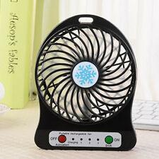 Mini Ventilator 2in1-USB Akku-Tisch-Ventilator mit LED-Leuchte Tragbar Schwarz #