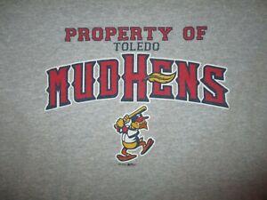 PROPERTY OF TOLEDO MUD HENS T SHIRT Minor League Baseball Muddy Mascot YOUTH LG