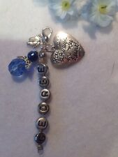 Personalised  Blue Baby Memorial   Keepsake Charm