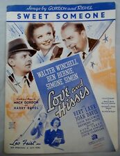 "SWEET SOMEONE 1937-BEN BERNIE,WALTER WINCHELL 20TH CENTURY FOX ""LOVE AND HISSES"""