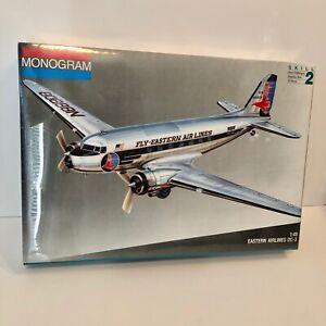 VTG, SEALED Monogram 1:48 Eastern Airlines DC-3 Model Plane Kit #5610