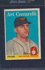1958 Topps #191 Art Cecarelli Orioles EX 58T191-72516-1