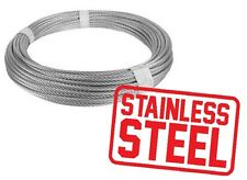 STAINLESS STEEL WIRE ROPE CERTIFIED HEAVY DUTY QUALITY [BEST] 1,5mm 2mm 3mm