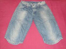 Herren Jeans blau kurz Jack & Jones Gr. L (used look)