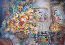 SEVITT FRANCIS THE ROOM OF FRANCIS Hand Signed Limited Edition Serigraph Flowers