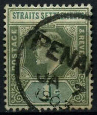 Straits Settlements 1902-3 SG#110, 1c Grey-Green KEVII Used #D46775