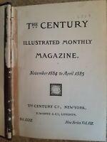 Century Magazine Bound/HC/Nov 1884-Apr 1885/Good/Twain/Roosevelt/Emma Lazarus