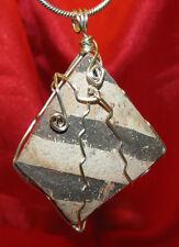 Black & White Anasazi sherd wire wrap pendant necklace pottery artifact #506