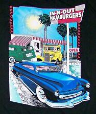 IN-N-OUT BURGER HAMBURGERS / UTAH USA / FASTFOOD / BLACK T-SHIRT SIZE XXL