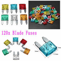 120pcs Assortment Car Fuse Auto Truck SUV Fuses Mini Blade Fuse Kits Set 5-30A