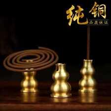 Copper Nepal Tibetan Buddhist Gourd incense Burner coil Stick Holder Seat 3XPCS