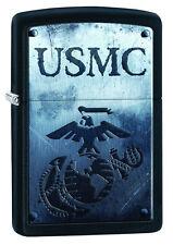 Zippo Windproof USMC Lighter With Marine Corp Logo,  28744, New In Box