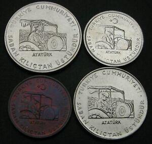 TURKEY 10, 50 Kurus & 1 Lira 1971/1979 - 4 Coins. - 1554