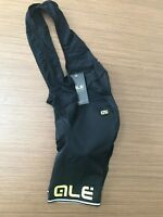 Ale Cycling Bib Shorts Corsa Solid |Mens-Black/Yellow-Fluo|BRAND NEW