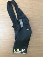 Ale Cycling Bib Shorts Corsa Solid  Mens-Black/Yellow-Fluo BRAND NEW