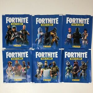 PANINI FORTNITE READY TO JUMP 5 STICKERS PER UNOPENED PACK SEASON ONE