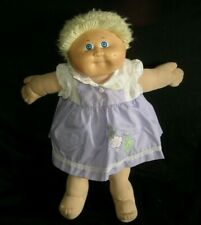 VINTAGE SHORT BLONDE CABBAGE PATCH KIDS BABY DOLL GIRL STUFFED ANIMAL TOY PLUSH