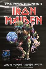 Iron Maiden-2011 KOREA TOUR POSTER 18 INCH X 23 INCH