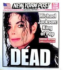 Michael Jackson Newspaper New York Post 2009 Tribute MJ Thriller King Of Pop