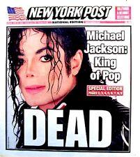 Michael Jackson Newspaper New York Post 2009 Tribute MJ Thriller King Of Pop