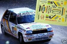 """DECAL CALCA 1/43 RENAULT 5 GT TURBO """"ANCAP"""" G. TRELLES RALLY ALICANTE 1987"""