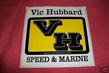 Vic Hubbard Racing Car Speed & Marine Sticker Decal