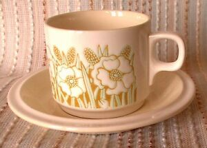 Hornsea Fleur CUP & SAUCER, Retro, Shabby Chic, vintage