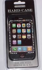 Hard Case Black Color  With shine diamonds New (as picture) Iphone 3G &3Gs