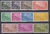 SPAIN - MNH -PLANES - 1955 - Mi# 1055/61+1073/78 - EDIFIL 1169/79 - Sc# C147/57