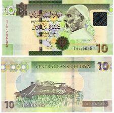 Libye Libya Billet 10 Dinars 2011 (2012) SERIE 1 NOUVEAU APRES GADAFFI NEUF UNC