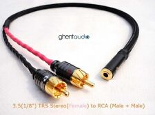 """B06(0.3m 1ft)---3.5mm Jack (1/8"""") TRS(female) to Dual(2) RCA/Phono Canare L-4E6S"""