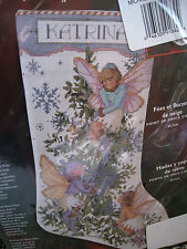 Christmas Bucilla Counted Cross Stocking KIT,FAIRIES AND SNOWFLAKES,Rossi,84828
