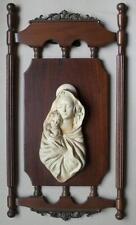 Graziosa vecchia icona metà Novecento legno e gesso Madonna Bambin Gesù