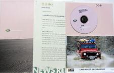2002  LAND ROVER DISCOVERY FREELANDER DEFENDER DOSSIER DE PRESSE EN ALLEMAND