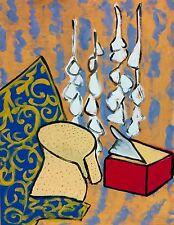"""""""to the sky""""art contemporain nature morte peinture gouache sur papier 65x50"""
