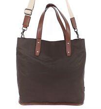 NWT $1100 DOLCE & GABBANA Mens Brown Nylon Leather Gym Travel Shoulder Hand Bag