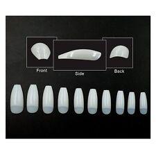 Ballerina False Nails 500 Pieces Half Cover Long Coffin Shape Nails Tips