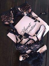 NEW Agent Provocateur MATILDA Bra, Suspender Garter Belt & Brief Set 32B SM 2