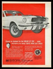 1966 Shelby GT-350 car and Carroll Shelby photo Motor Wheel Magnum 500 print ad