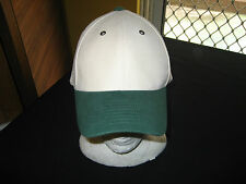 CAP Cream/Green 100% Cotton adjustable - NEW !