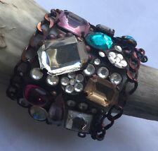 Vintage Statement Armband XXL Armreif, Strass Armband, Jades, Bracelet Brocante